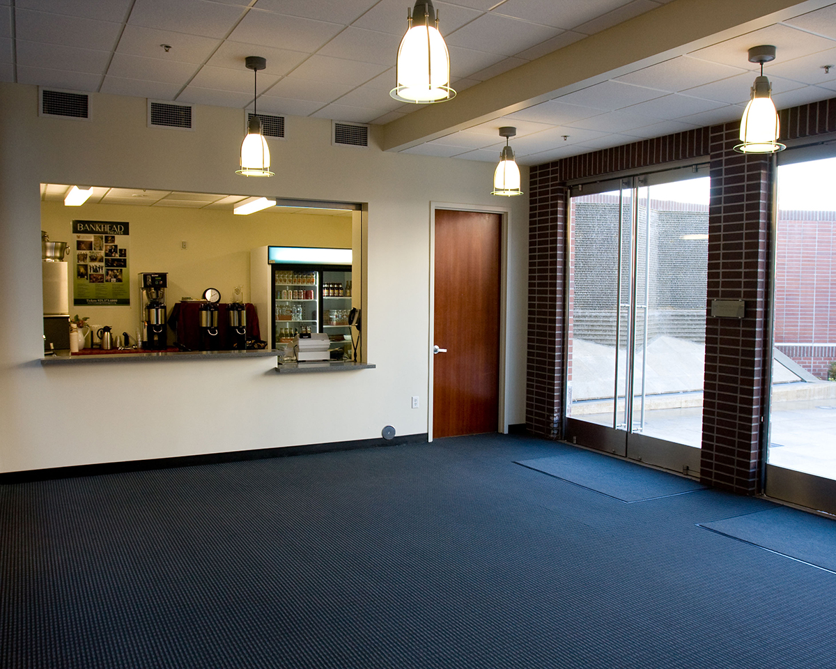 Concessions bar in the Bankhead Theater