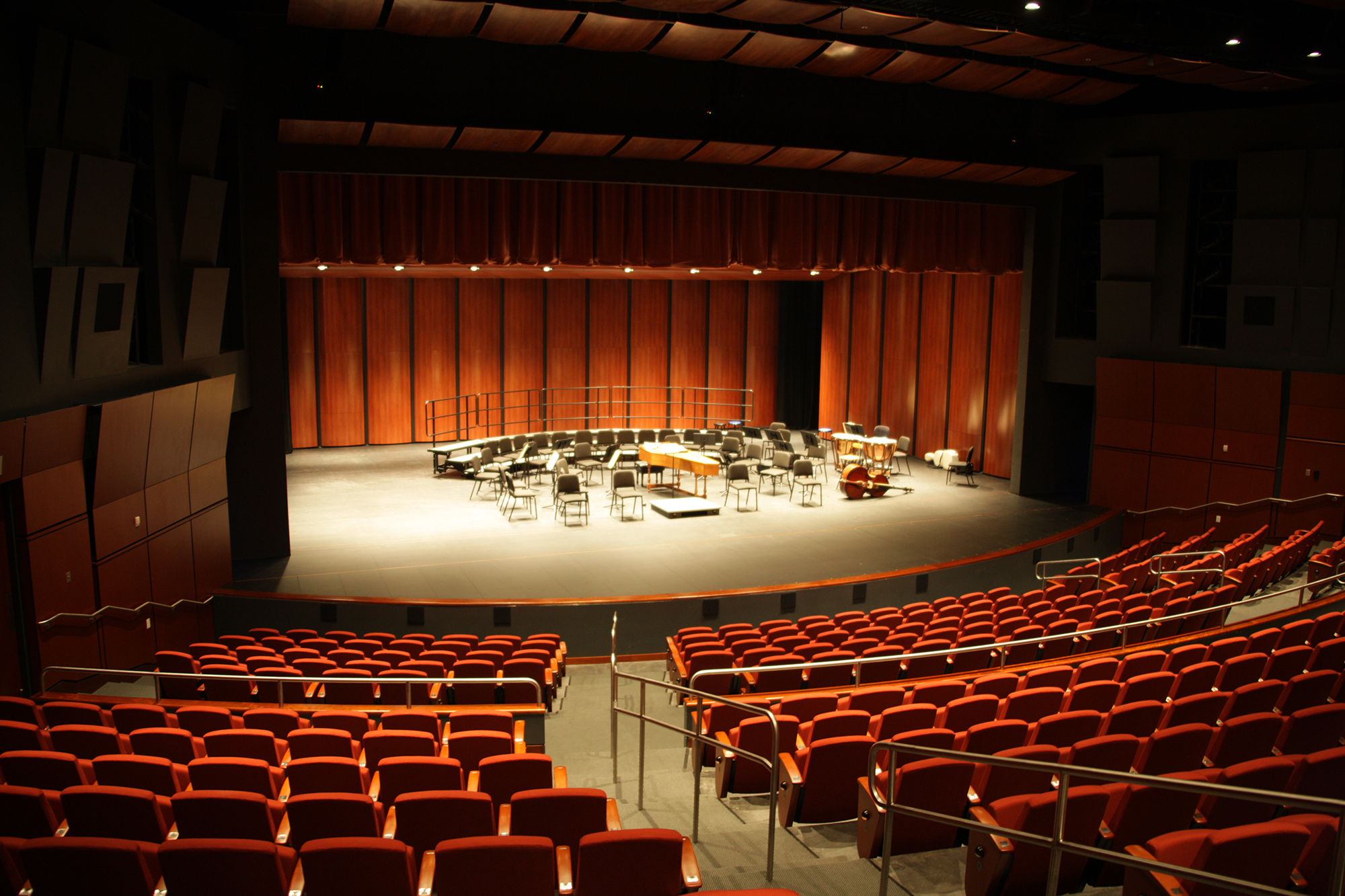 Interior of Bankhead Theater with stage and seating.