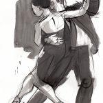 Ink, Figurative art, dance art, Judith Kunzle