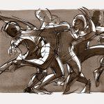 Digital art, ink, figurative art, dance art, Judith Kunzle