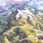Mt Diablo art, Tri valley art, watercolor, Judith Kunzle