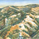 Mt Diablo art, watercolor, Judith Kunzle, landscape art
