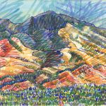 Watercolor, landscape, Mt Diablo art, Judith Kunzle