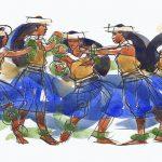 Cook Island watercolors, art, Judith Kunzle