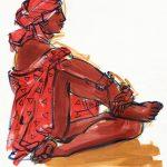 art, watercolor art, figurative, Judith Kunzle