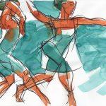 Figurative art, watercolor, Judith Kunzle